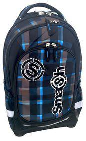 Smash Large Orthopaedic Super Light 3 Division Framed Backpack - Blue & Grey