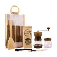 Ryo Coffee Coffee Gift Bag - Brown Grinder + 300g unroasted beans