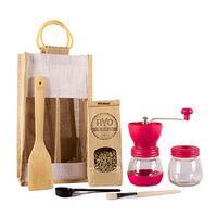 Ryo Coffee Coffee Gift Bag - Pink Grinder + 300g unroasted beans
