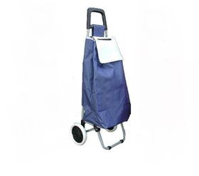Tosca Lightweight Folding Shopping Trolley - Navy