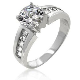 Miss Jewels - 3.00ctw Solitaire Cubic Zirconia Engagement Style Ring