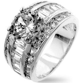 Miss Jewels - 2.75ctw Clear Cubic Zirconia Costume Dress Ring