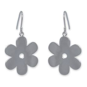 The Jeweller's Florist Solid Daisy Earrings - Sterling Silver