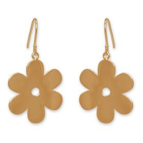 The Jeweller's Florist Solid Daisy Earrings - Yellow Gold