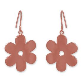 The Jeweller's Florist Solid Daisy Earrings - Rose Gold