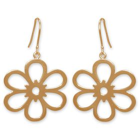 The Jeweller's Florist Open Daisy Earrings - Yellow Gold