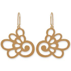 The Jeweller's Florist Hydrangea Earrings - Yellow Gold