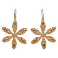 The Jeweller's Florist Agapanthus Earrings - Orange Citrine - Yellow Gold