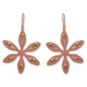 The Jeweller's Florist Agapanthus Earrings - Orange Citrine - Rose Gold
