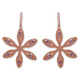 The Jeweller's Florist Agapanthus Earrings - Rose Quartz - Rose Gold