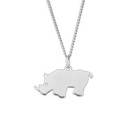 The Jeweller's Florist Rhino Necklace - Sterling Silver
