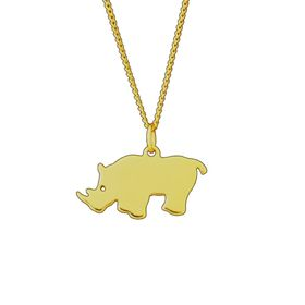 The Jeweller's Florist Rhino Necklace - Yellow Gold