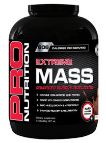 Pro Nutrition Extreme Mass 2kg Muscle Building Formula - Chocolate