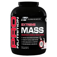 Pro Nutrition Extreme Mass 2kg Muscle Building Formula - Strawberry