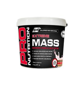 Pro Nutrition Extreme Mass 4kg Muscle Building Formula - Strawberry