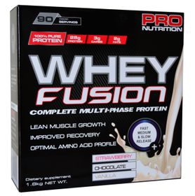 Pro Nutrition Whey Fusion 1.8kg - Strawberry