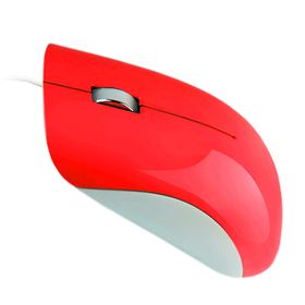 Astrum USB Optical Mouse With Glossy Finish - Red