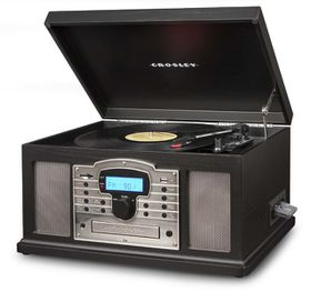 Crosley Troubador 7-in-1 Entertainment Centre Turntable - Black