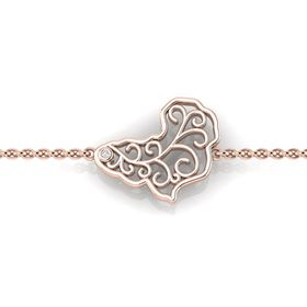 Why Jewellery Map Diamond Map Bracelet - Rose Gold Plated