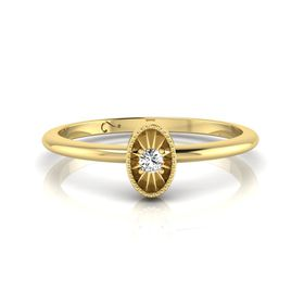 Why Jewellery Diamond Stax Ring - Yellow Gold Plated