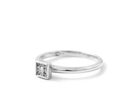 Why Jewellery Diamond Stax Ring - Silver Diamond