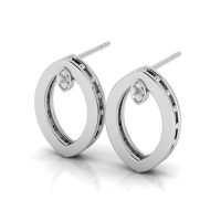 Why Jewellery Marquise Diamond Studs - Silver Marquise