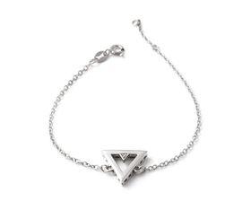 Why Jewellery Triangle Diamond Bracelet - Silver Triangle