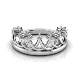 Why Jewellery Crown Diamond Ring - Silver