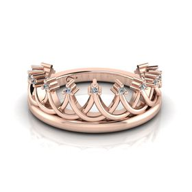 Why Jewellery Crown Diamond Ring - Rose Gold Plated