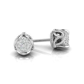 Why Jewellery Crown Diamond Studs - Silver