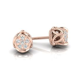 Why Jewellery Crown Diamond Studs - Rose Gold Plated