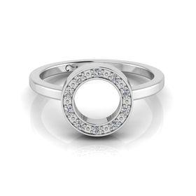 Why Jewellery Halo Diamond Ring - Silver