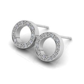 Why Jewellery Halo Diamond Earrings - Silver