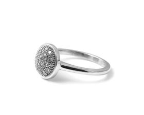 Why Jewellery Halo Diamond Ring - Silver