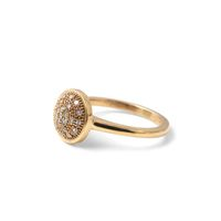 Why Jewellery Halo and Diamond Ring - Yellow Gold Plated