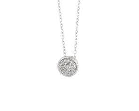 Why Jewellery Halo Diamond Pendant - Silver
