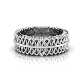 Why Jewellery Geometric Diamond Ring - Silver