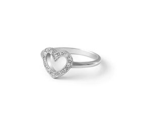Why Jewellery Heart Diamond Ring - Silver