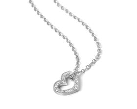 Why Jewellery Heart Diamond Pendant and Chain - Silver