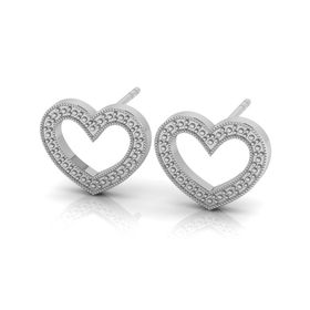 Why Jewellery Heart Studs - Silver