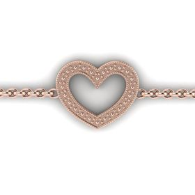 Why Jewellery Heart Bracelet - Rose Gold Plated