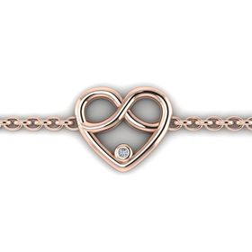 Why Jewellery Infinity Heart Diamond Bracelet - Rose Gold Plated (WW00022)