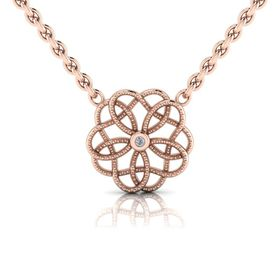 Why Floral Diamond Pendant - Rose Gold Plated
