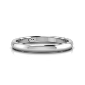 Why Jewellery Plain Band - Silver