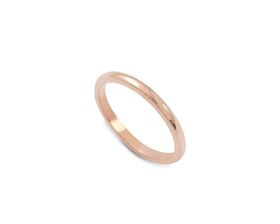 Why Jewellery Plain Band - Rose Gold Plated