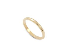 Why Jewellery Plain Band - Yellow Gold Plated