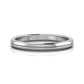 Why Jewellery Grooved Band - Silver