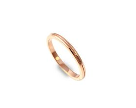 Why Jewellery Grooved Band - Rose Gold Plated