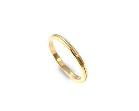 Why Jewellery Grooved Band - Yellow Gold Plated