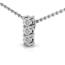 Why Jewellery Trilogy Diamond Pendant and Chain - Silver